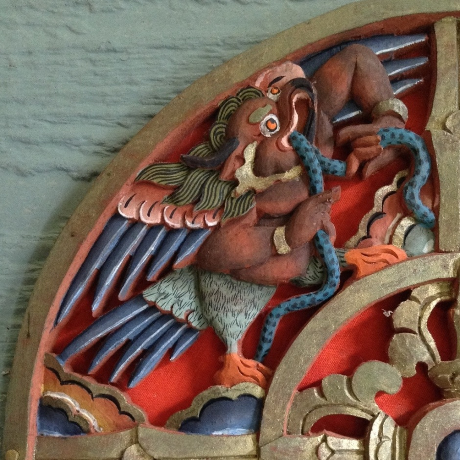 Garuda, one of the four protective warrior spirits