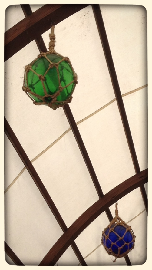 a green light fixture