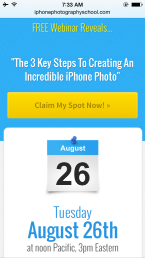 FREE live webinar with iPhone photographer, DavidMolnar